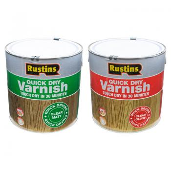 Rustins Quick Dry Clear Varnish 2.5L