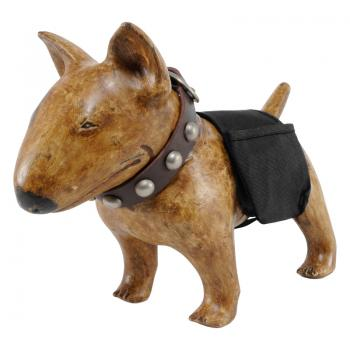 Wood Carving Bull Terrier JENNIFER (Female - Antique Brown)
