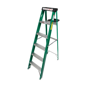 Fiberglass Stepladder Commercial Duty 6ft
