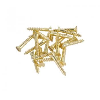 Brass Screws Flat Head #4 x 3/4inch