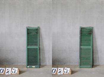 Wooden Louvered Shutter (1408) #023