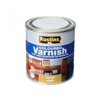 Rustins Polyurethane Coloured Varnish Satin 500ml