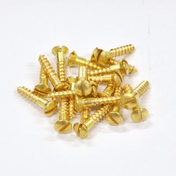 Brass Screws Oval Head #10 x 1inch