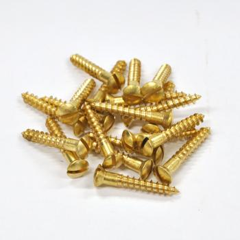 Brass Screws Oval Head #10 x 1-1/4inch