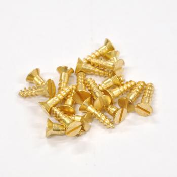 Brass Screws Flat Head #10 x 3/4inch