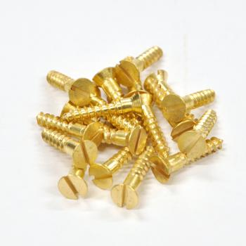 Brass Screws Flat Head #10 x 1inch