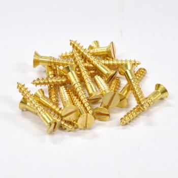 Brass Screws Flat Head #10 x 1-1/4inch