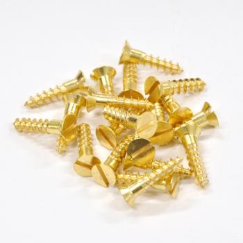 Brass Screws Flat Head #12 x 1inch