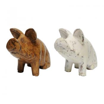 Wood Carving Pig (XS)