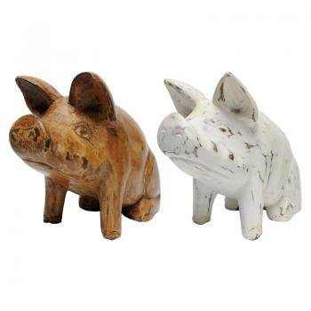 Wood Carving Pig (S)