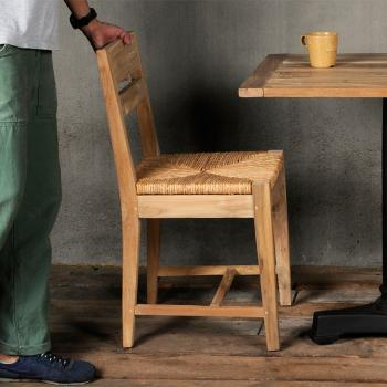 Reclaimed Teak Woven Seat Chair
