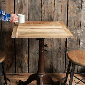 Reclaimed Teak Table Top (600×500)