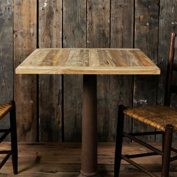 Reclaimed Teak Table Top (650×650)
