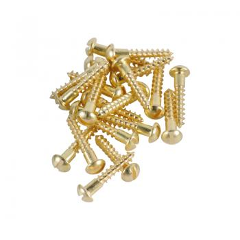 Brass Screws Round Head #6 x 3/4inch