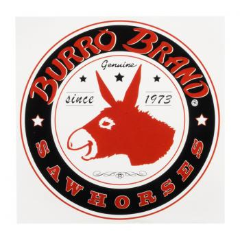 Burro Logo Sticker #1 (Badge (B))