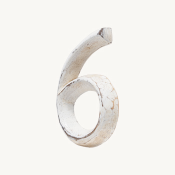 Wood Carving Letter 「6」