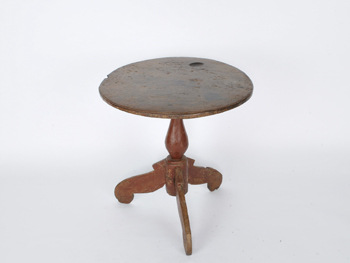 Antique Pedestal Side Table #Round
