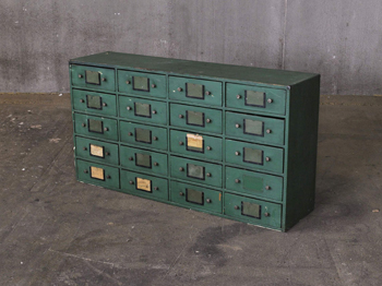 Green Muti Drawer Cabinet (1812)
