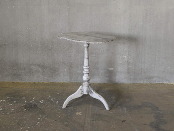 Anttique Pedestal Side Table #1 (1901)
