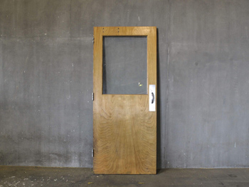 Antique Maple Door With Glass (1812) #011