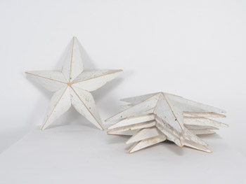 Small Barnwood Stars #White (1603)