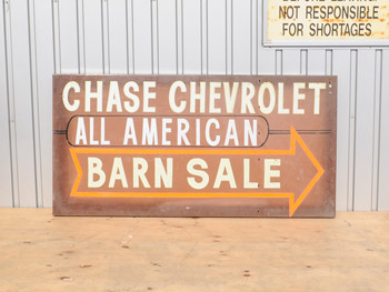 Chase Chevrolet Barn Sale Sign (1307)