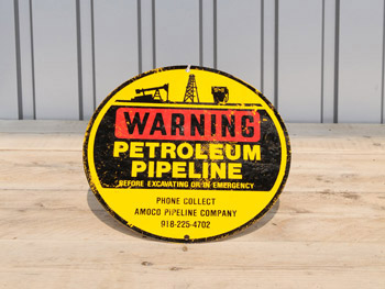 Petroleum Pipeline Sign (1307)