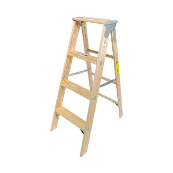 Wood Stepladder Stocky Heavy Duty 4ft