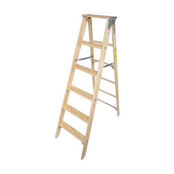 Wood Stepladder Stocky Heavy Duty 6ft
