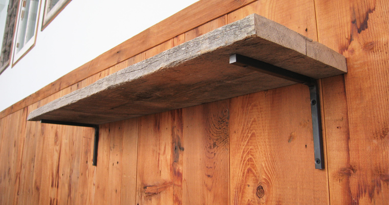Barn Wood L800 Shelf Board Set
